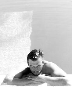 Male Portrait in Pool