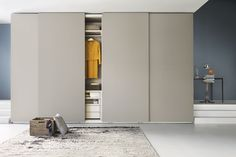 Lema Traccia Sliding Door Wardrobe, contemporary sliding door wardrobe with simplistic design, from leading designer Italian manufacturer, Lema