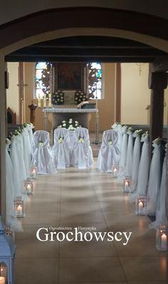 dekoracja kościoła Człuchów  #dekoracjaławek #tiul #weddingaisle #weddingrunner