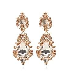 Light pink tear drop cocktail earrings £8.00