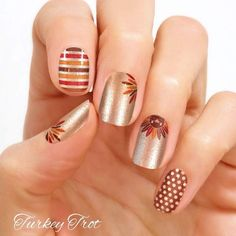 Color Street Nail Art, Nail Stickers, Nail Polish Sets - Turkey Trot, Thanksgiving Nail Polish Strips - The most beautiful nail designs Cute Nail Polish, Nail Polish Sets, Nail Polish Colors, Fancy Nails, Cute Nails, Pretty Nails, Thanksgiving Nail Designs, Thanksgiving Nails, Thanksgiving Turkey