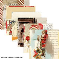 Basic: Collage 4 Paper Mini, designed by Angie Briggs, Scrap Girls, LLC digital scrapbooking product designer