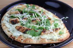 Chicken Artichoke Flatbread Recipe | BlogChef.net