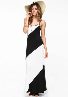 Diagonal Stripe Dress http://shopmodmint.com/shop/clothes/diagonal-stripe-maxi-dress/