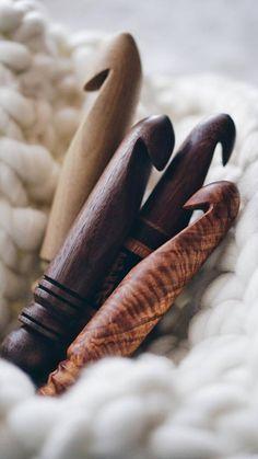 OOAK Wood Crochet Hook Size U-8 25 mm Ergonomic Wooden