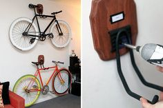 16 Creative Ways to Hang Up Your Bike via Brit + Co