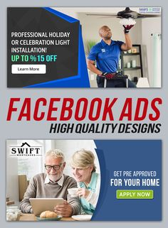 Facebook Ad Template, Facebook Image, Light Installation, Social Media Design, Ad Design, Service Design, How To Apply, Ads, In This Moment