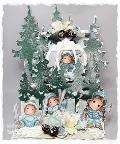 Winterset # 104 template available at www.sandrasscrapshop.blogspot.com Made by Chantal.