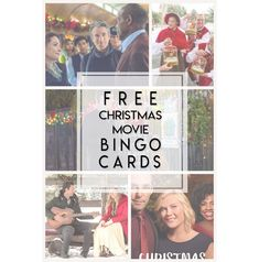 Just in time for long stretches of family togetherness, and in the spirit of giving… I created a free printable bingo card to be played while watching pretty much any Romantic Christmas Movie…
