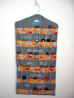 """Garment bag with pockets for cars """"Life is a Highway"""""""
