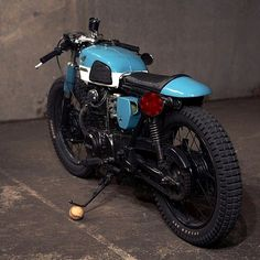 Honda Cafe Brat  I just have a thing for baby blue bikes. It just soothes my soul
