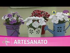 Vida com Arte | Vasinhos de flores em tecido por Rosana Pardo - 22 de junho de 2016 - YouTube