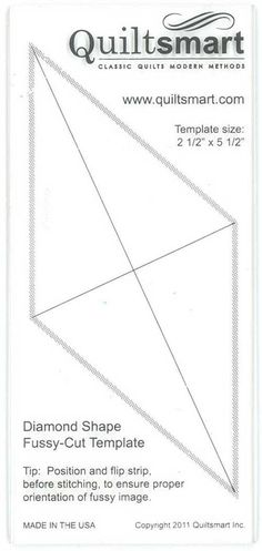 Fussy Cut Template Keepsake Quilting, Diamond Shapes, Positivity, Templates, Sewing, How To Make, Image, Stencils, Dressmaking