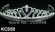 Hot sale fashion rhinestone tiara KC050-in Hair Jewelry from Jewelry on Aliexpress.com