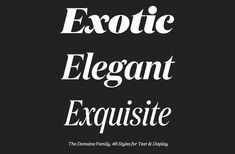 Domaine Display typeface by Klim Type Foundry