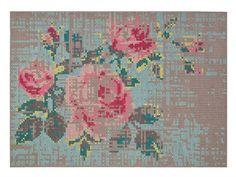 Blumen- Teppich aus Wolle FLOWERS Kollektion Canevas Spaces by GAN By Gandia Blasco   Design Charlotte Lancelot