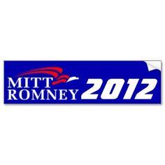 Mitt Romney 2012 Bumpersticker - Blue Bumper Sticker