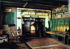 """17th Century farmhouse at The Beamish Museum. From """"English Cottage Interiors"""" by Hugh Lander & Peter Rauter.   Cassell Paperbacks"""