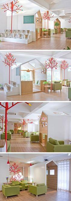 YAMODesign Studio designed the Kale Café in Hangzhou, China.