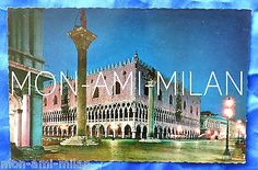 Vintage 1960s postcard the ducal #palace by night palazzo ducale #venice #italy,  View more on the LINK: http://www.zeppy.io/product/gb/2/222402202656/