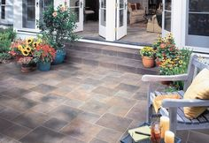 Patio #tile // #coverings13 #Crossville