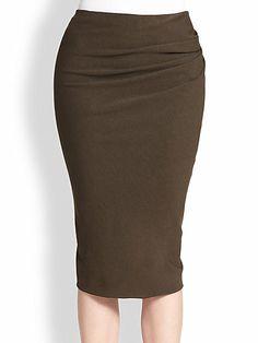 Donna Karan - Side Drape Skirt - Saks.com