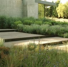 Garden Landscaping Trees a muted palette of native plants harmonize with stepped terraces of stone and Corten steel, concrete walls and reflective glass at this residence in Wood River Valley, Ketchum, Idaho. Landscape designed by Lutsko Associates Modern Landscape Design, Garden Landscape Design, Modern Landscaping, Contemporary Landscape, Garden Landscaping, Landscaping Ideas, Landscape Stairs, Landscaping Software, Contemporary Gardens