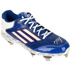 98f8b570d52dc3 Kris Bryant Chicago Cubs Fanatics Authentic Autographed Adidas White and  Blue Game Model Cleat - Game