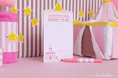 Circus Baby Shower Advice Card & Bonus Wishes Card by leelaaloo.com II #diy #party #theme #circus #theme #pink #leelaaloo