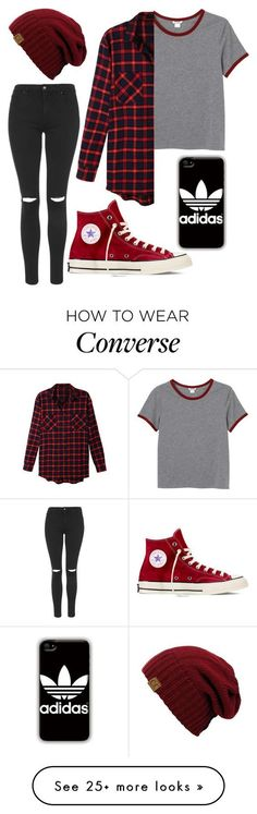 """Untitled #1"" by destinymaee-1 on Polyvore featuring Monki, LE3NO, Topshop, Converse and adidas:"