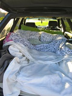 """When we sold the RAV4 and bought a 1998 Subaru Legacy wagon, we were met with a lot of raised eyebrows. """"Why would you do that?"""" The answer? So we could sleep in it. The bed is a foam m…"""
