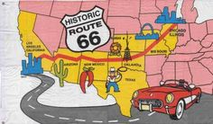 Route 66 Map - Chicago to Los Angeles