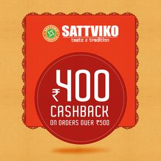It's snacking time!😉 Grab some healthy #Sattviko snacks now at an amazing #Cahsback of Rs 400 on orders over Rs 500. Order now! #Cashback #Snacks #Savings #Healthy #DealOfTheDay⚡️