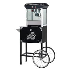Great Northern Popcorn Chaplin Theater Style Popcorn Machine with Cart in Black