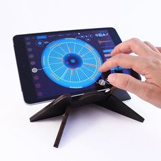"""""""Hero"""" tabletop stand now available in black! ideal for #Korg #Volca, #iPad mini, #Moog #Werkstatt, #teenageengineering #OP1 and many other compatible devices (list on our website). More on:  http://cremacaffedesign.com/hero/  #cremacaffedesign #original #design #tabletop #stand  #durable #smart #foldable #ergonomic #portable  #lightweight #musicGear #homedecor #style #drummachine #electronic #music #homestudio #dj #patterning #cool #ipadmusic #synth"""