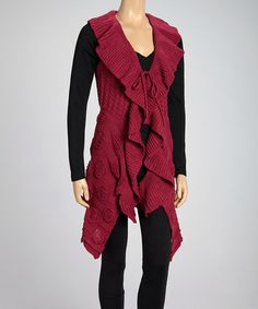 Take a look at this Fuchsia Ruffle Vest by SR Fashions on #zulily today! $35 !!