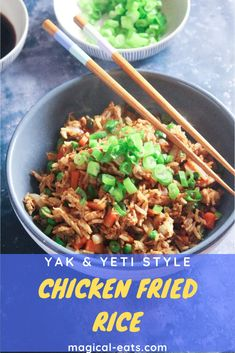 Super tasty fried rice with chicken, egg, peas, carrots and soy sauce. Just like the iconic snack from Yak & Yeti in Animal Kingdom – get your Disney fix at home! Disney Food, Disney Recipes, Tasty Fried Rice, Inexpensive Meals, Chicken And Vegetables, Original Recipe, How To Cook Chicken, Rice Recipes, Fried Chicken