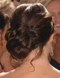 Obsessing About Hair Trial (Pics) :  wedding bun hair trial Evangeline Lily Chignon Knot Elegant Hairstyle 2008 Primetime Emmy Awards