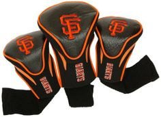 MLB San Francisco Giants Contour Head Cover (Pack of 3), Black by Team Golf. $36.67. 3 location team embroidery. The No.1 fits all oversized drivers and the nylon sock protects shafts from damage. 3 stylish contoured headcovers made of buffalo vinyl and synthetic suede like materials numbered 1,3 and X. 85% vinyl/10% acrylic nylon/5% pvc. Set includes 3 stylish contoured headcovers with innovative materials and sleek design - numbered 1,3 and X.  The #1 fits all oversize...