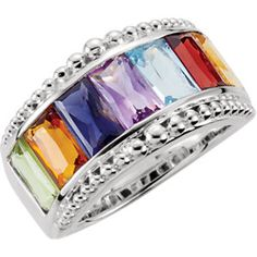 Love this. Multi colored stone ring
