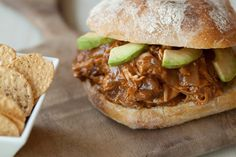 Hawaiian Pulled Pork Sandwich:  4/19/12 - I made this for dinner and they are delicious!  I served them on toasted onion buns.
