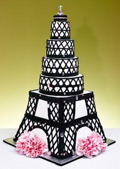 cute Paris wedding cake....