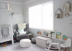 Our little reading nook in Luca's nursery  (need to make a valance to hide the under cot storage)! by thelittleroomco