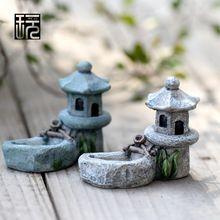 Imitación antigua resina ornamento de hadas jardín miniaturas DIY Doll House / Terrariums / suculentas / Micro musgo paisaje decoración(China (Mainland))