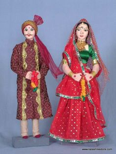 Indian hand made Couple Dolls...