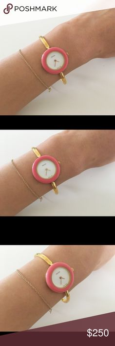 Charming Rare Gucci Watch It is such a charming watch. It came in a box with other rings but I left them at my parents' home in Tokyo. Selling this lovely rare watch for $200. Please let me know if you are interested. Thank you! Gucci Accessories Watches