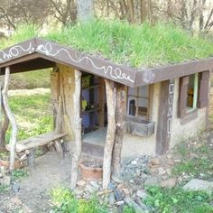 Naturally Cool Cob Playhouse -  DIY for about 30.00