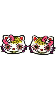 Dolly Cool - Day Of The Dead Kitty Earrings