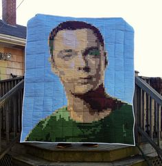 Sheldon Cooper Quilt! by Candy Coated Quilts, via Flickr