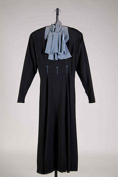 Dress Designer: Elizabeth Hawes Date: ca. 1937 Culture: American Medium: Wool Accession Number: 2009.300.8093
